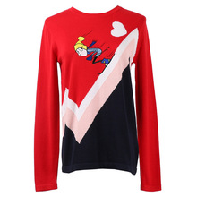 Shuchan Casual Cartoon  Sweater Women Korean Top with Long Sleeve Womens A Pattern Sweaters and Pullovers