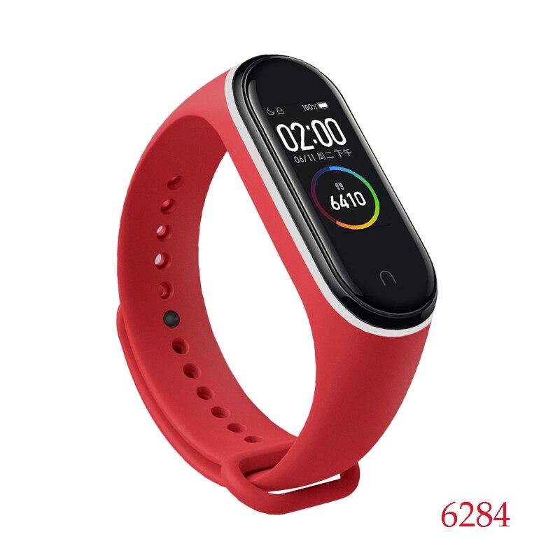 Для Xiaomi Mi Band 4/3 ремешок Металлическая пряжка силиконовый браслет аксессуары miband 3 браслет Miband 4 ремешок для часов М - Цвет: 6284