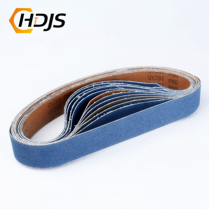 DRELD 5Pcs 40 * 760mm  Abrasive Sanding Belts For Air Belt Sander Zirconia Alumina For Metal Grinding Polishing Grit  80 320