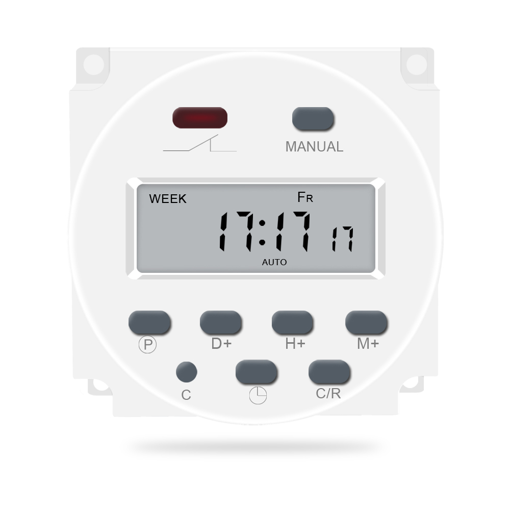 CN101A LCD Digital DC 12V Timer 16A Time Relay Switch Control rechargeable Power Programmable Program for Electrical Equipments