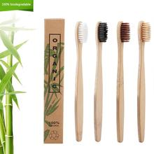 4 Kleuren 50 Stks/partij Natuurlijke Bamboe Tandenborstel Oral Care Gezondheid Tool Milieuvriendelijke Zachte Haren Witte Tand Borstels