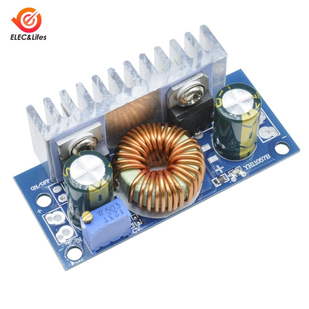 Convertisseur Boost de 4.5V-32V à 5-42V 6A | Panneau de convertisseur Boost, alimentation réglable, Module Step Up Non isolé, Protection des courts circuits