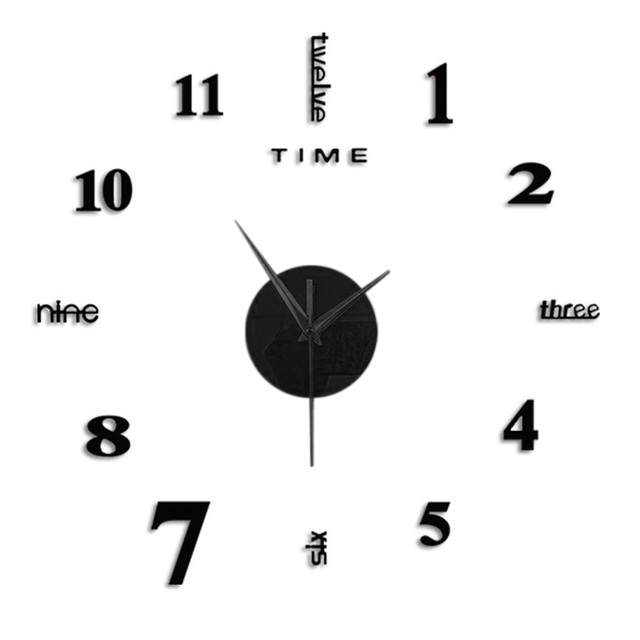 Top Selling Product Frameless Diy Wall Mute Clock 3d Mirror Surface Sticker Home Office Decor Support Wholesale Dropshipping 4