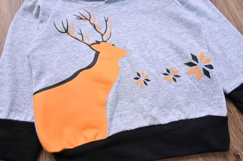 0-24 เดือนทารกแรกเกิด Active เสื้อผ้าฤดูใบไม้ร่วง Tracksuits สำหรับชายชุดกวาง Hooded Sweatshirt กางเกงเสื้อผ้าเด็กทารกชุด