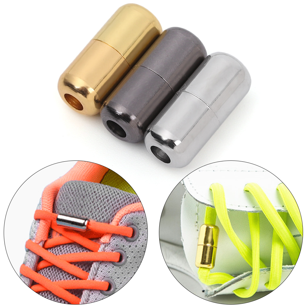 1Pair Thick Shoelace Buckle Lock Quick Convenient Tieless Lace No Need Tie Flat Shoelaces Flat Shoelaces Lazy Shoe Laces Buckle