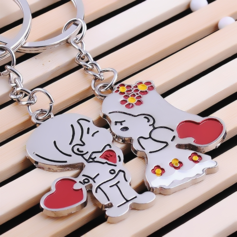 Wedding Guest Gift girlfriend boyfriend Souvenirs birthday Party Fashion Lovers for Key Ring valentine Bridesmaid Small present 1