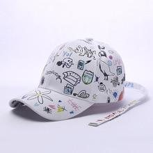 Custom Graffiti Snapback Baseball Caps Black and White Patchwork Men Women Hip Hop Cap Fashion Casual Hat hot sales цена
