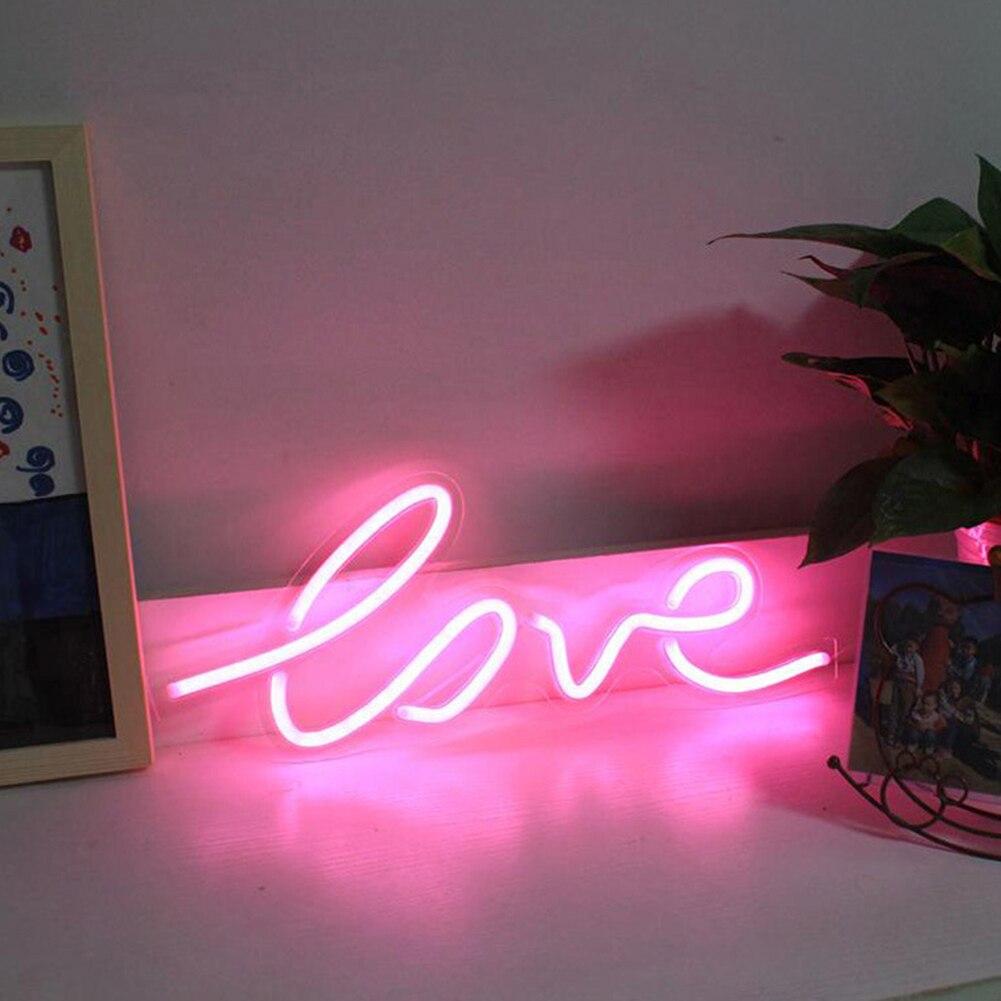 Neon Licht Atmosphäre Party Fotografie Prop Dekoration Bar Art Home Wort Zeichen USB Powered Shop Fenster Hochzeit Led Wand Hängen