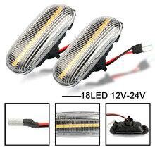 цена на 2Pcs/Set Led Dynamic Side Marker Turn Signal Light Sequential Blinker Light For Audi A3 S3 8P A8 D2 TT 8N Car Accessories