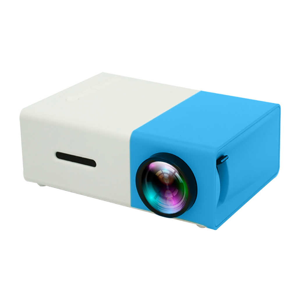 LEJIADA YG300 Mini projektor LED 480x320 pikseli obsługuje YG-300 1080P HDMI USB Audio przenośny projektor Home Media Video player