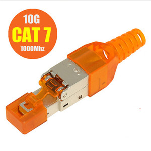 Image 2 - 100 Uds Cat6A Cat7 Cat8 RJ45 conectores de engaste Ethernet apantallado LAN Cable de red de Cable de Internet RJ 45 Terminal Modular Plug