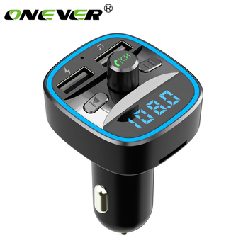 USB Charger FM Transmitter Modulator Car MP3 Player U Disk LCD Display navigation Car Kit Charger Adapter Wireless Bluetooth image