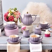 Mug Coffee-Cup Milk-Teapot Ceramic China Pumpkin with Saucer-Spoon Gold-Plated Shelf-Kit-Set