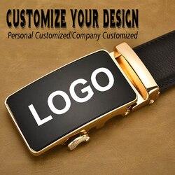 Cinturón de lujo con hebilla automática para hombre, cinturón masculino con diseño personalizado, personalización de logotipo de negocios, a la moda, 2020