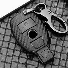 Fırçalama ABS araba anahtarı koruma kılıfı Mercedes Benz BGA AMG W203 W210 W211 W124 W202 W204 W205 W212 w176 E sınıfı W213 S sınıfı