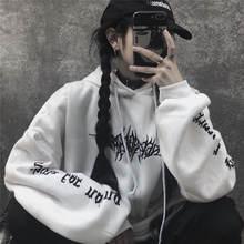 Женская свободная уличная одежда Черный свитшот трикотажные
