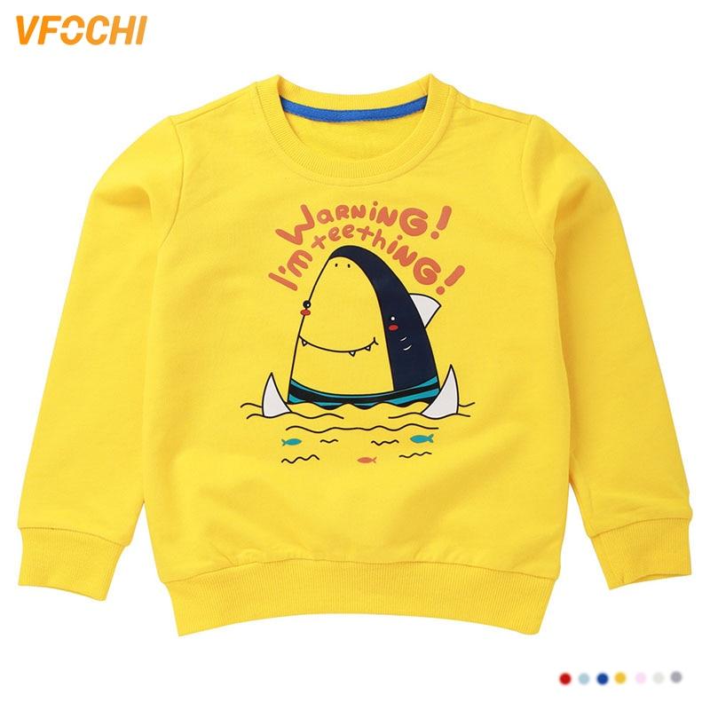 VFOCHI 2019 Girls Sweatshirts 7 Color Spring Autumn Children Long Sleeves Kids Clothes Unisex Boy