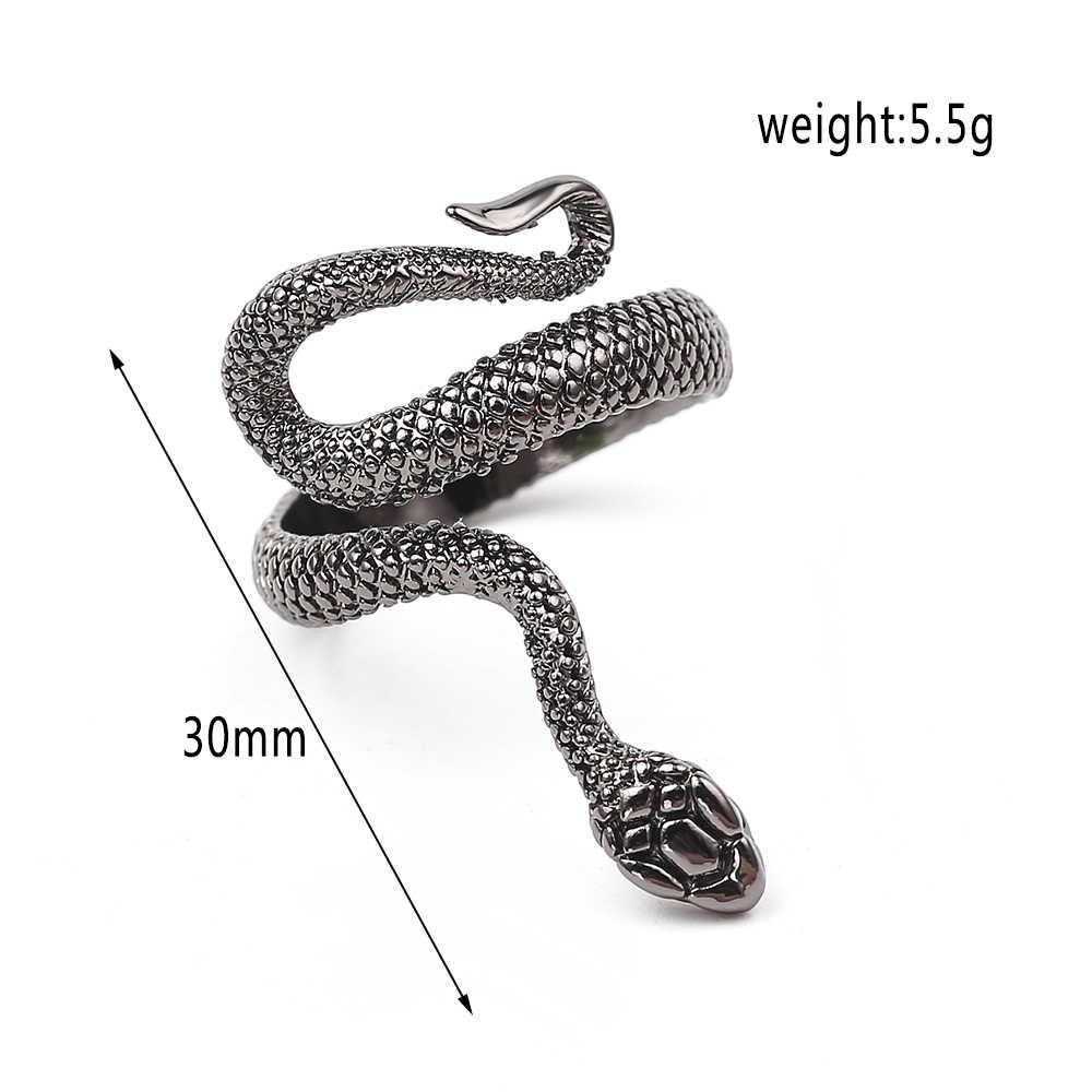 Anillo de serpiente espíritu Retro diseño único regalo de joyería para novio Europa y los Estados Unidos anillo de moda creativo unisex