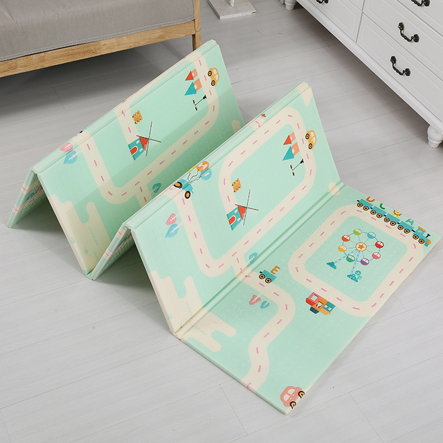 Foldable Baby Play Mat Xpe Puzzle Children's Mat Thickened Baby Room Crawling Pad Folding Mat Baby Carpet Splicing Climbing Mat