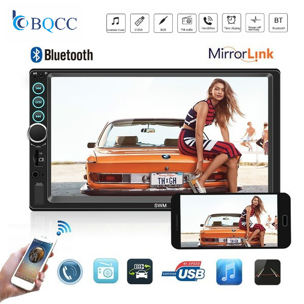 2Din 7Car Multimedia Player Car Radio Audio Bluetooth Touch Screen MP5 Player TF USB FM Radio Auto with IOS/Android Mirror Link