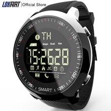 LOKMAT 스마트 시계 스포츠 방수 보수계 메시지 알림 블루투스 야외 수영 남자 ios 안드로이드 전화 smartwatch