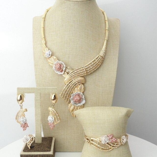Yuminglai دبي حلي مجموعات مجوهرات الأزياء الأفريقية FHK7001