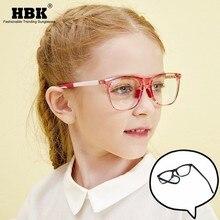 Light Computer Square Frame Blocking-Glasses Optical Blue UV400 Flexible Children TR90