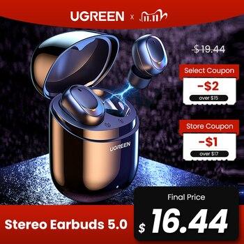 אוזניות בלוטוס עם מיקרופון וקופסת טעינה UGREEN