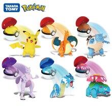 Caixa de pokemon genuíno conjunto pokeball monster pokeball deformação brinquedos pikachu venusaur charizard gyarados mewtwo anime figura modelo