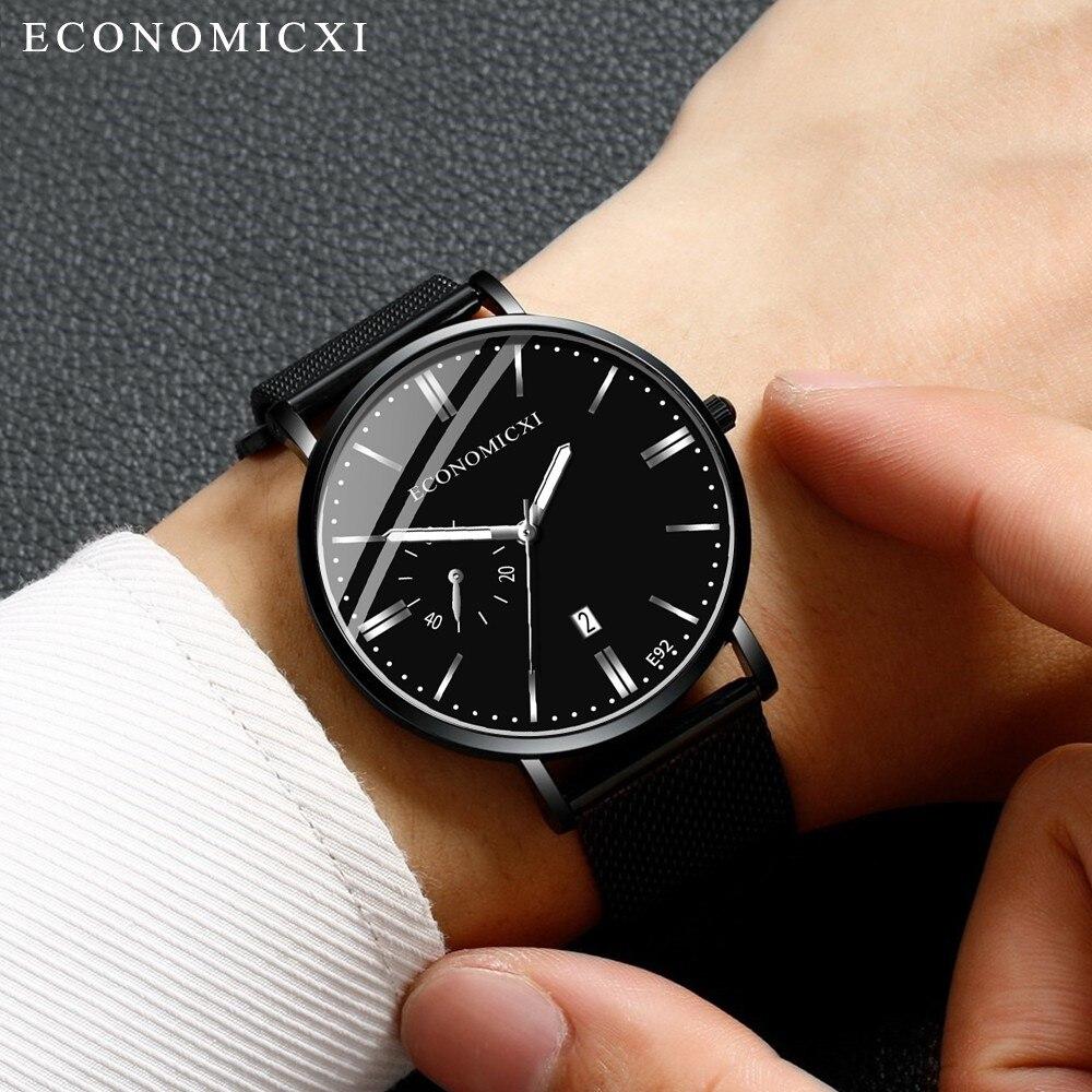Men Business Watch Ultra -thin Mesh Strap Quartz Wristwatch Hot Sell High Quality Waterproof Casual Clock Relogio Masculino %