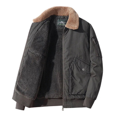 New Winter Men'S Coat High Quality Lamb Wool Military Uniform Coat Men'S Jacket Men'S Cotton Jacket Jacket