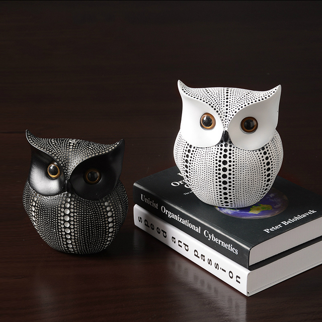 Nordic Home Decoration Accessories Modern Miniature Figurines Desk Decoration Owl Figurine Living Room Decoration Accessories 4