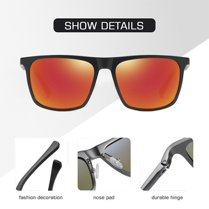 Image 5 - AOFLY BRAND DESIGN Aluminum magnesium Polarized Sunglasses Men 2020 Fashion Square Driving Fishing Mirror Sun glasses Male UV400