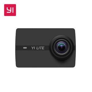 Image 1 - YI Lite экшн камера Sports 16MP настоящий 4K со встроенным WI FI 2 дюймов ЖК дисплей Экран 150 градусов Широкий формат линзы черного цвета