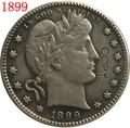 США 1899 P, O, S Парикмахерская или голова свободы четверть долларов копии монет