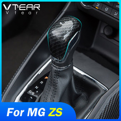 Vtear for MG ZS MG6 MG3 RX5 gear head shift knob cover carbon fiber auto car-styling center interior accessories decoration
