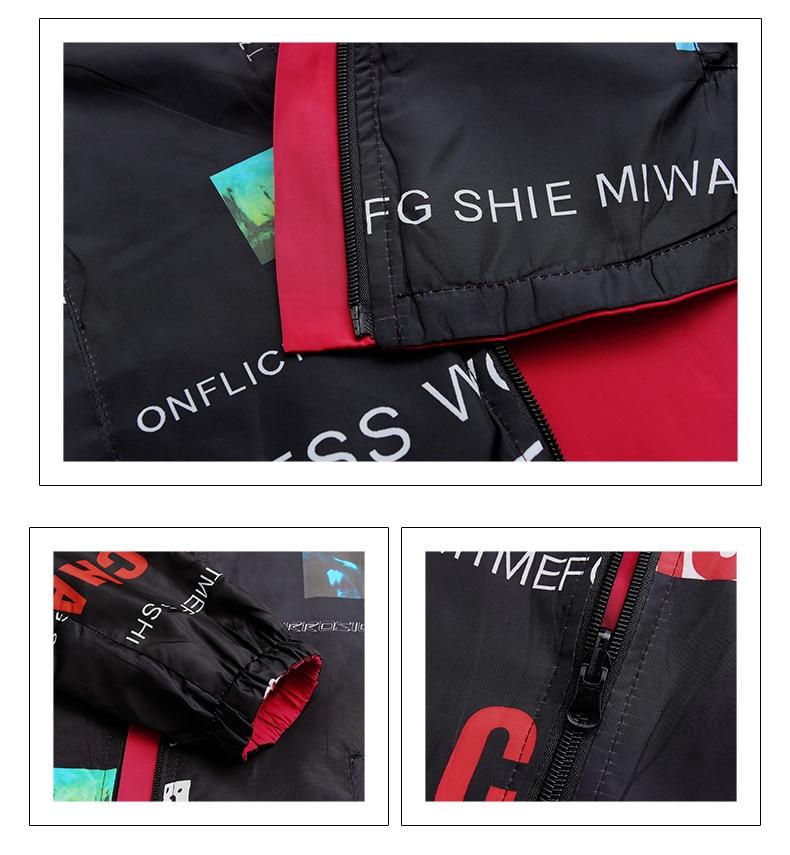 Hcbf697a2206c420fafc9cd9692f3d9d5P Streetwear Hooded Printed jacket women And Causal windbreaker Basic Jackets 2019 New Reversible baseball Zippers jacket 4XL