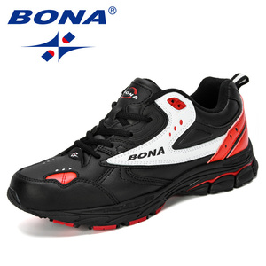 Image 5 - BONA 2019 Yeni Tasarımcı Profesyonel Deri koşu ayakkabıları Erkekler İlkbahar Sonbahar yürüyüş ayakkabısı Erkekler Atletik Koşu Sneakers Ayakkabı