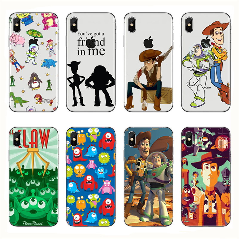 <font><b>Toy</b></font> <font><b>story</b></font> phone cases <font><b>iphone</b></font> XR XS Max X 8 7 <font><b>6</b></font> <font><b>6</b></font> s Mais Caso Moda elegante Macio TPU <font><b>Capa</b></font> Para <font><b>iphone</b></font> 5 5s SE image