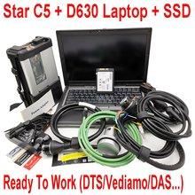 2021 ferramenta de diagnóstico mb estrela c5 sd conectar com portátil d630 hdd ssd 2021.03 das/dts/para mb estrela c5 para mb carros & caminhões