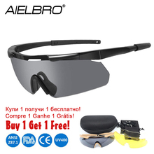 Polarized Army Goggles 3 Lens Sets Men's Military Sunglasses Airsoft War Game Tactical Hiking Glasses With Gift