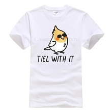 New Summer Men's Casual Print T Shirt Fashion Tiel with it m