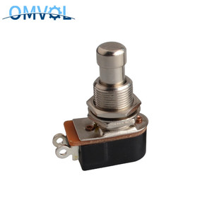 1PC SPST Momentary Soft Touch Push Button Stomp Foot Pedal Switch Electric Guitar Switch OFF-Momentary ON