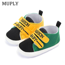 Canvas BaBy Shoes Infant Toddler Babies Boys Girls Shoes Sole Soft Footwear For Newborns Crib Moccasins 4 Colors Available