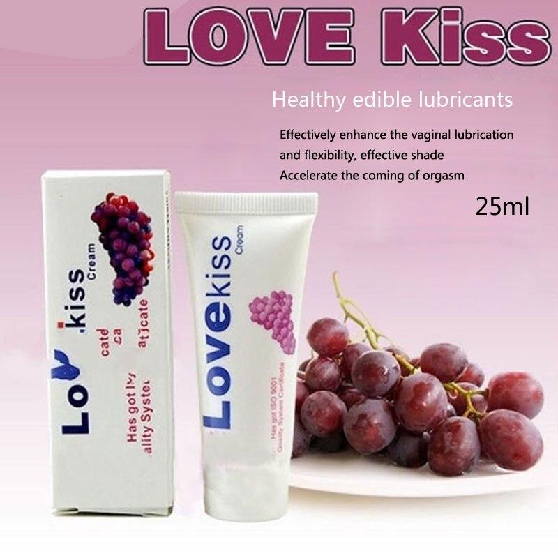 Смазочного Love Kiss смазка со вкусом винограда 25 мл со вкусовыми добавками съедобные смазки вагинальный мужской женский смазка для орального ...