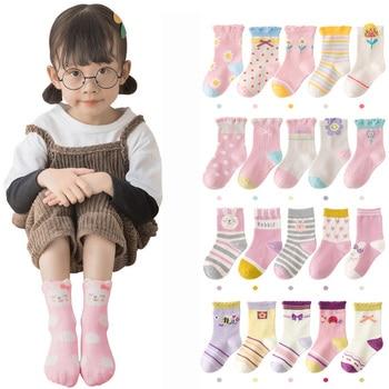 5 Pairs/lot Cute Cartoon Baby Girls Socks Winter Thicken Soft Kawaii Infant Toddler Socks Cotton Baby Boy Sports Socks for 1-12Y 1