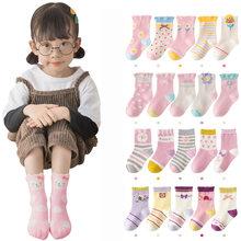 5 par/lote de dibujos animados lindo calcetines de niñas bebé invierno espesar suave Kawaii bebé niño Calcetines de algodón bebé niño deportes calcetines para 1-12Y