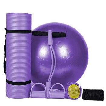 TOP!-Nbr Yoga Mat 183x61Cm 10Mm Thickness Slim Yoga Mats Non-Slip Tasteless Fitness Pilates Home Exercises Gym Sport Pad Explosi