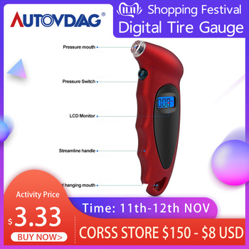 New Auto Car Tire Pressure Gauge Tire TG105 Air Pressure Tester Mini Keychain Style Digital Portable High Accuracy With Battery