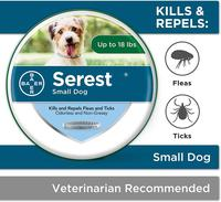 Bayer Animal Health Seresto Flea and Tick Collar for Dogs Cats Up To 8 Month Flea Tick Collar Anti mosquito and insect repellent